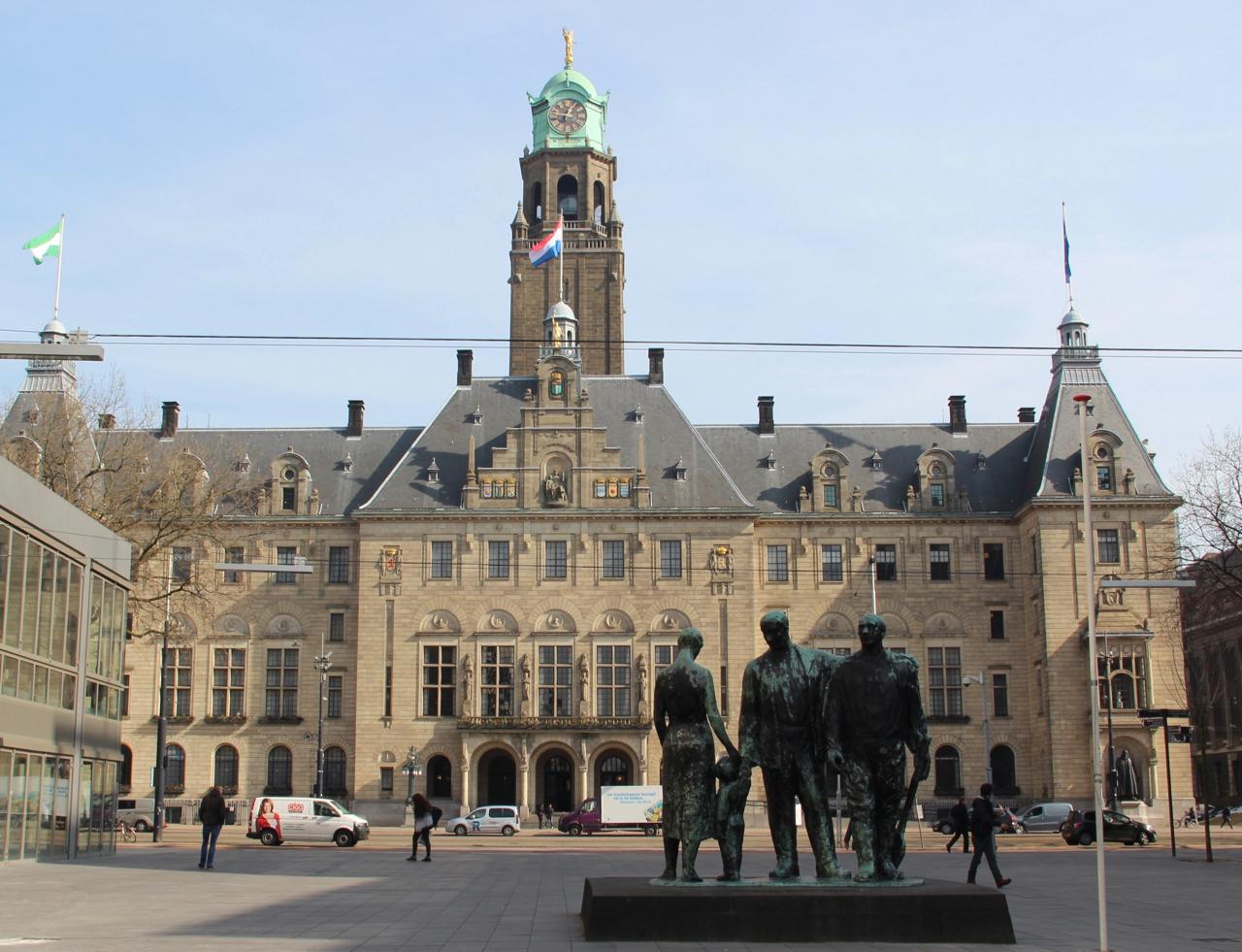 Werk Rotterdam - Stadhuis, supervisie monument